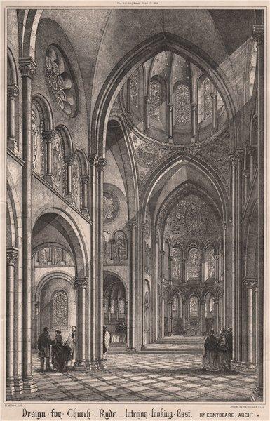 Associate Product Ryde church design. Interiort; Hy. Conybeare, Architect. Isle of Wight 1868