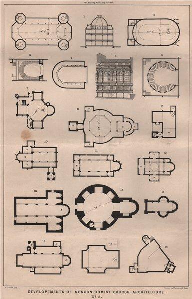 Associate Product Developments of nonconformist church architecture No. 2. Architecture 1868