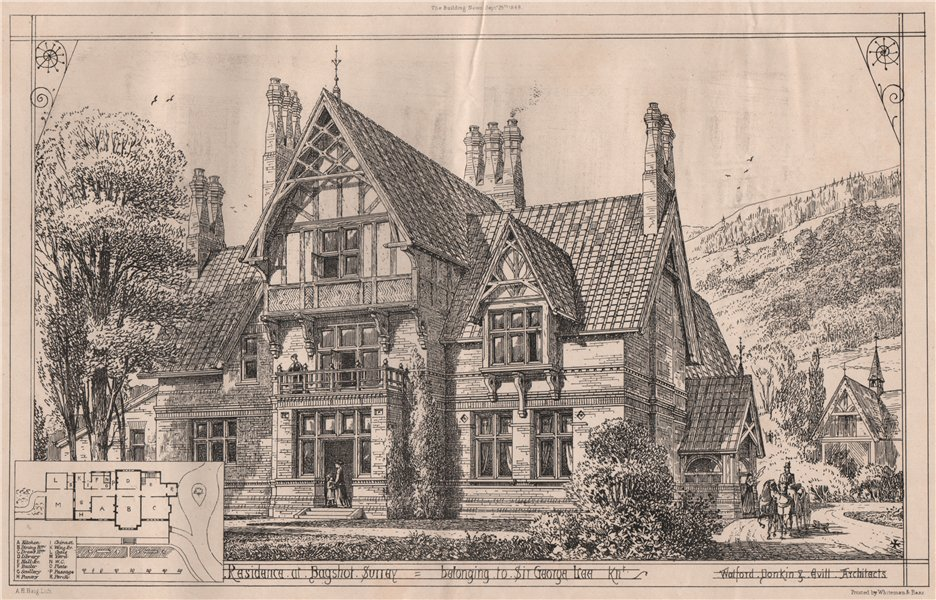 Associate Product Sir George Lee's house, Bagshot, Surrey; Watford, Donkin & Evill, Archts 1868