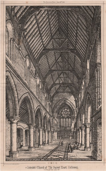 Associate Product Intended Church of the Sacred Heart, Holloway; Pownall. Architect, London 1869