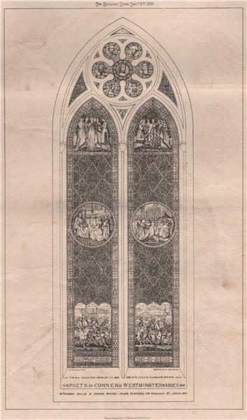 Associate Product Poets Corner, Westminster Abbey. London 1869 old antique vintage print picture