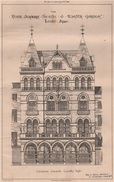 Associate Product The Royal Denmark Theatre & Winter Garden, Leicester Square; Edward Robins 1869