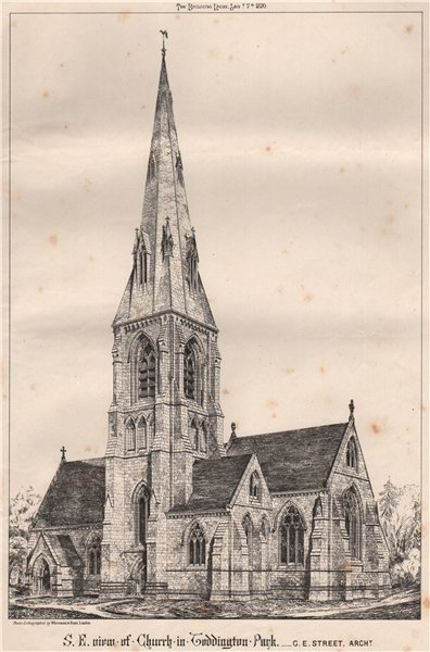 Associate Product SE view of Toddington Park church; G.E. Street, Architect. Gloucestershire 1870