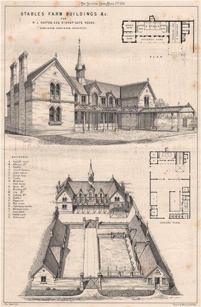 Associate Product Stables farm buildings. RJ Ashton, Bishop-Gate House; Rawlinson Parkinson 1870