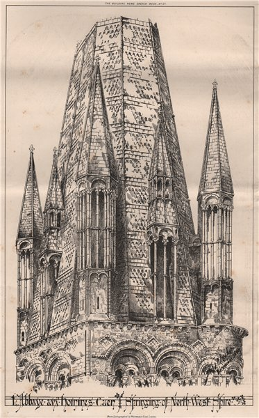 Associate Product L'Abbaye aux hommes Caen Springing of North West Shire. Calvados 1870 print