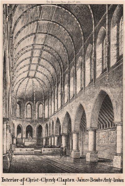 Associate Product Interior of Christ Church, Clapton; James Brooks Architect, London 1870 print