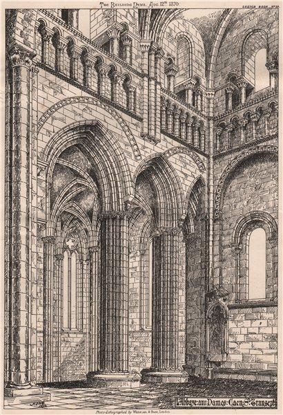 Associate Product L'Abbaye aux Dames, Caen. S. transept. Calvados 1870 old antique print picture