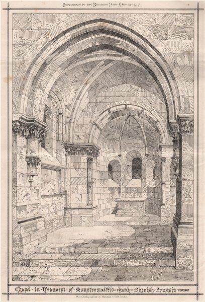 Associate Product Chapel in Granite of Munstermaifeld Church, Rhenish Prussia. Germany 1871