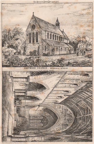Associate Product Eastwood Church - exterior & interior; J.E.K. Cutts, Architect. Yorkshire 1871
