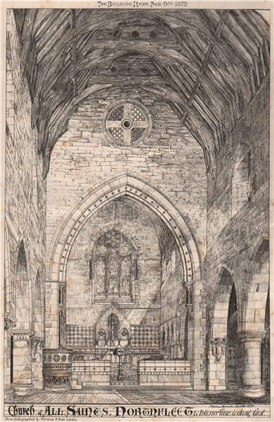 Associate Product Church of all Saints, Northfleet; Interior; James Brooks Architect. Kent 1872