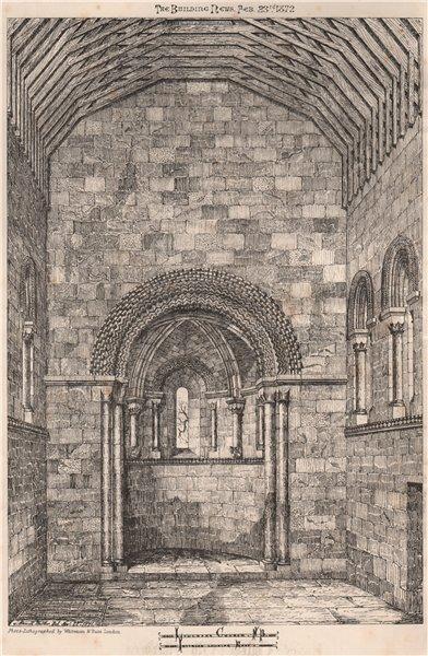Associate Product Leuchars Church, N.B. Interior looking East. Scotland 1872 old antique print