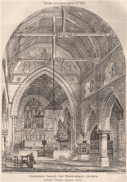 Associate Product Premiated design for Wood Green Church; Edward Francis Clarke, Architect 1872