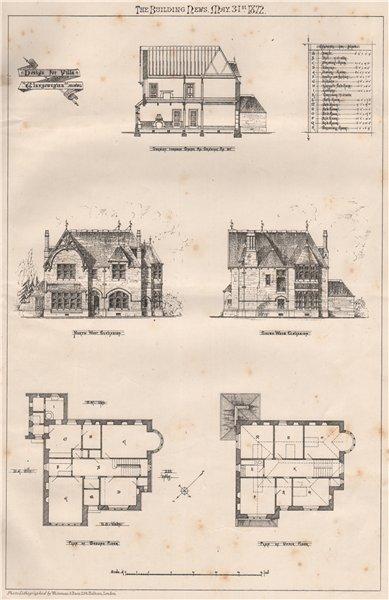 Associate Product Design for Villa Glaswegian. Glasgow 1872 old antique vintage print picture