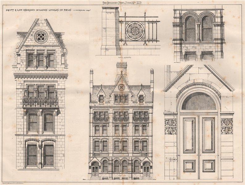 Associate Product Equity & Law Assurance buildings Lincolns Inn Fields; Alfred Waterhouse 1872