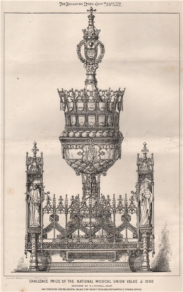 Associate Product National Musical Union challenge prize. S.J. Nicholl. Crystal Palace Co 1872