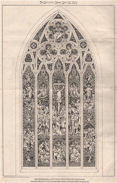 Associate Product All Saints Church, Kensington Park. Alexander Gibbs Stained Glass Works 1872