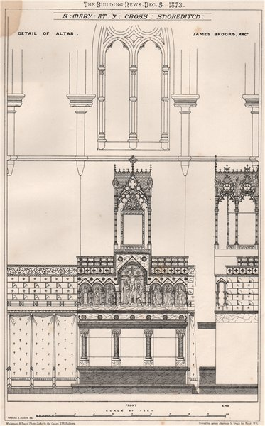 Associate Product St. Mary at ye Cross, Shoreditch; James Brooks, Architect. London (2) 1873