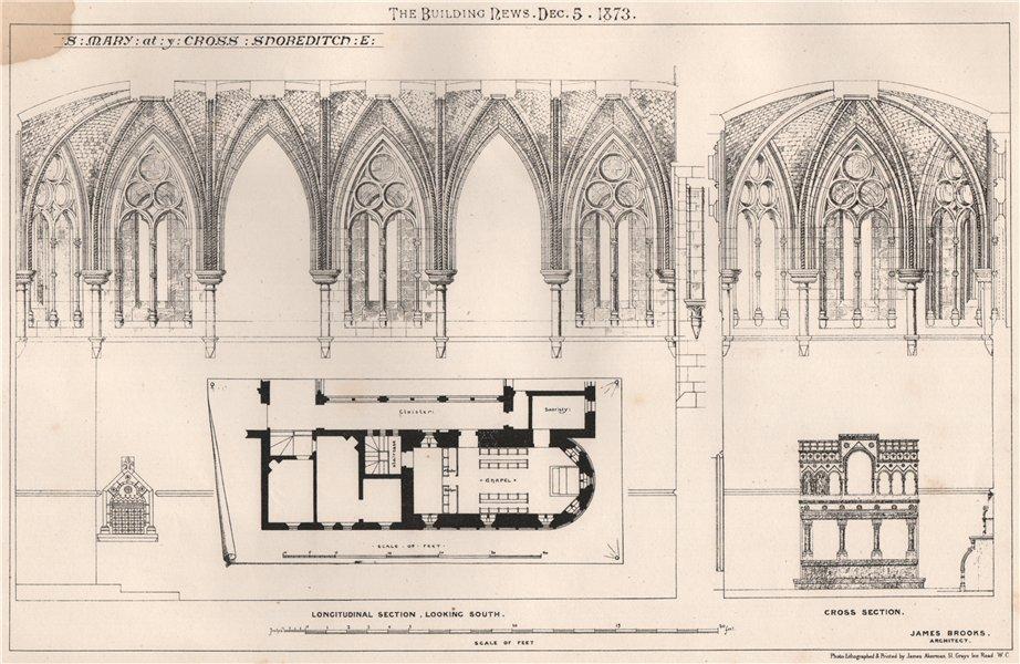 St. Mary at ye Cross, Shoreditch. E; James Brooks, Architect. London 1873
