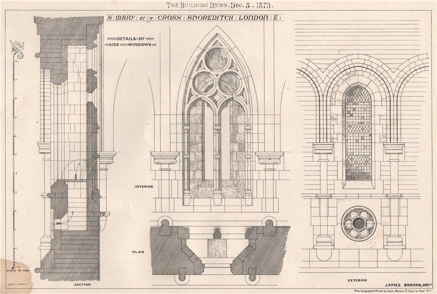 Associate Product St. Mary at ye Cross Shoreditch. London. E; James Brooks, Architect 1873 print