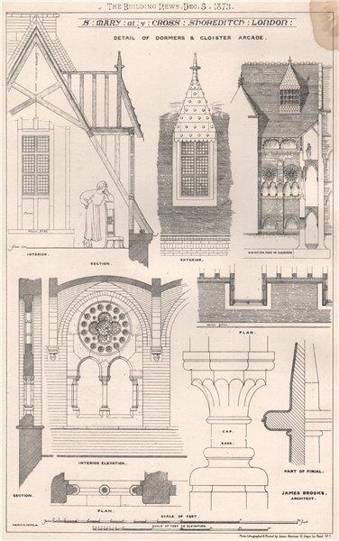 Associate Product St. Mary at ye Cross Shoreditch. London; James Brooks, Architect 1873 print