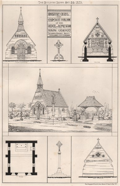 Associate Product Mortuary chapel & cemetery, Order of Reparation. Woking Cemetary, Surrey 1873