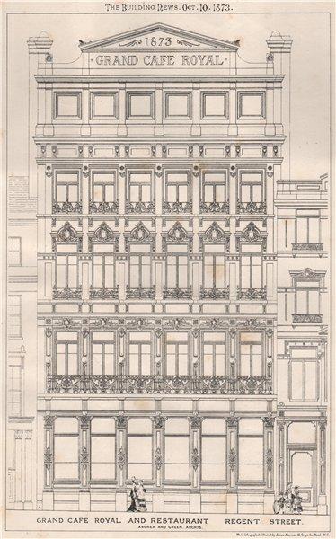 Associate Product Grand Cafe Royal & Restaurant, Regent Street; Archer & Green, Architects 1873