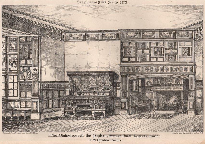 Associate Product Dining-room at The Poplars, Avenue Road, Regent's Park; I.M. Brydon Archt 1873