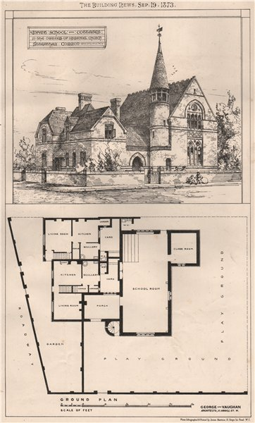 Associate Product Infant school & cottages, district of Immanuel Church, Streatham Common 1873
