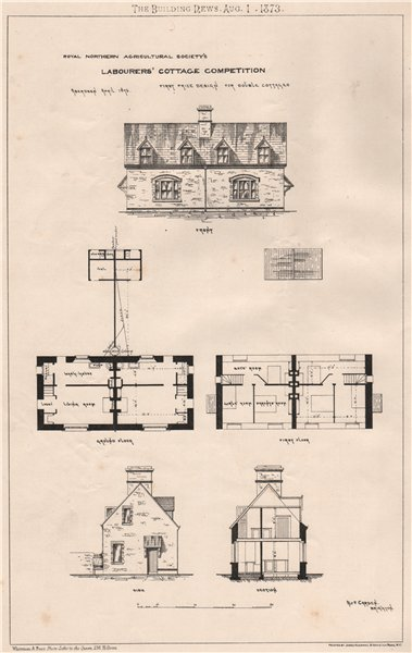 Associate Product Royal Northern Agricultural Society's; Labourers' cottage competition 1873