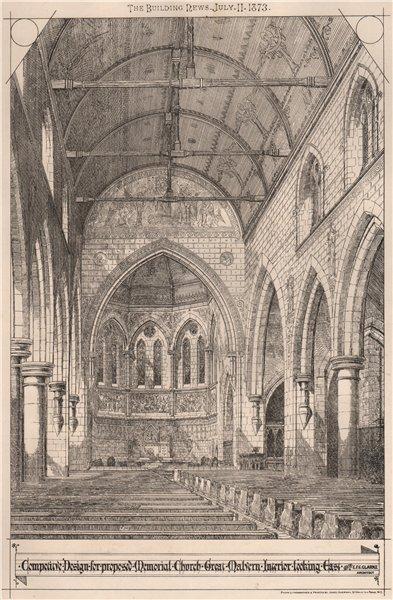 Associate Product Proposed Memorial Church Great Malvern Interior. EFC Clarke, Architect 1873