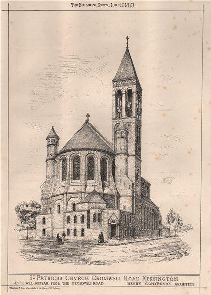 Associate Product St. Patrick's church, Cromwell Road, Kensington; Henry Conybeare Architect 1873