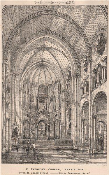 Associate Product St. Patrick's Church, Kensington. Interior; Henry Conybeare Architect 1873
