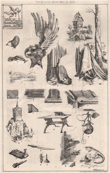 Associate Product Notes on Albert Durer . Decorative 1873 old antique vintage print picture