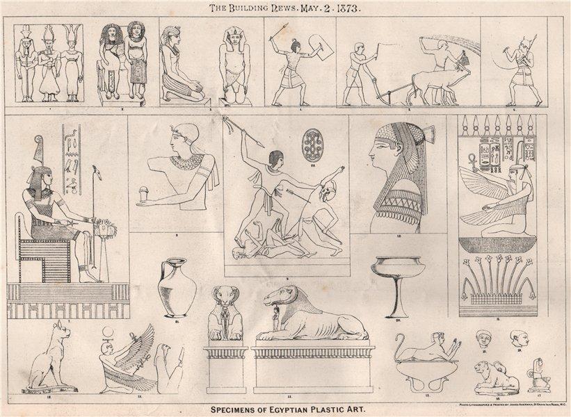 Associate Product Specimens of Egyptian plastic art. Fine Arts 1873 old antique print picture