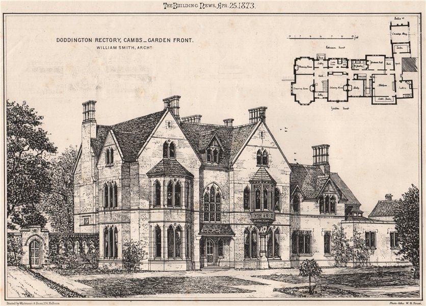 Associate Product Doddington Rectory, Cambridgeshire. Garden front; William Smith Architect 1873