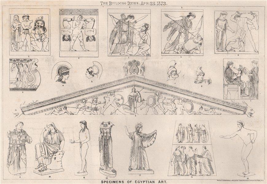 Associate Product Specimens of Egyptian Art. Fine Arts 1873 old antique vintage print picture