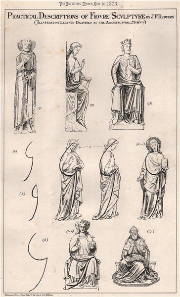 Associate Product Practical descriptions of figure sculpture 1; J.F. Redfern 1873 old print