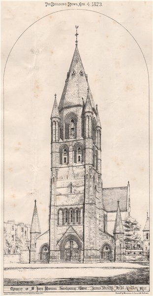 Associate Product Church of John Baptist, Kensington West; James Brooks Archt London 1872 1873