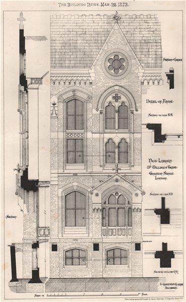 Associate Product New library, Dr. Williams Trust, Grafton Street, London; Gratfield Clarke 1873