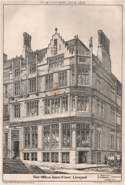 New Offices, James Street, Liverpool; G. Hamilton, G.E. Cravson, Archit 1874
