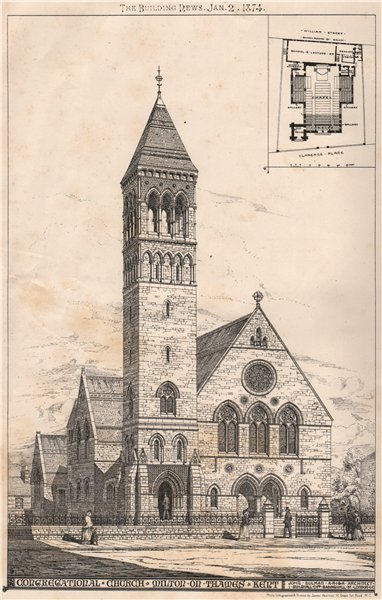Congregational church, Milton on Thames, Kent; John Sulman Architect 1874