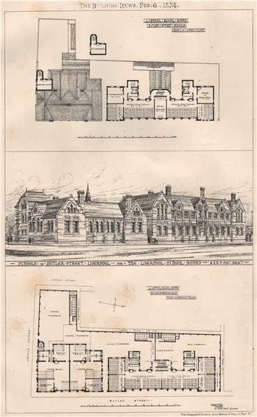Associate Product Liverpool School Board, Butler Street Schools;H.& A.P. Fry Architects 1874