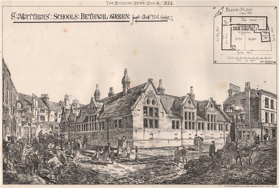 St. Matthias' Schools, Bethnal Green; Joseph Clarke F.S.A. Architect 1874