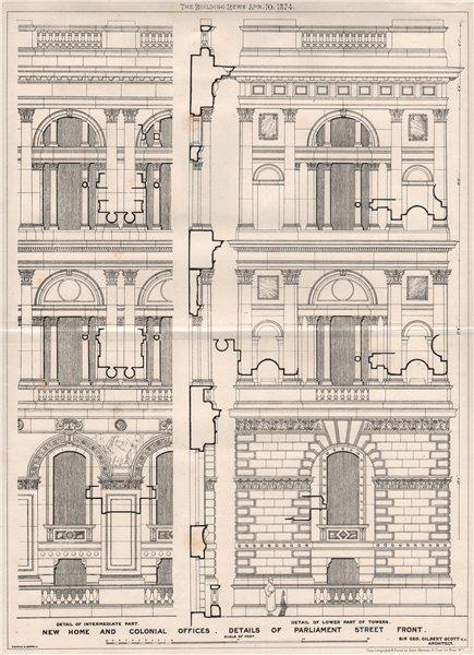 Associate Product Home & Colonial Offices, Parliament Street front; Sir Geo. Gilbert Scott 1874