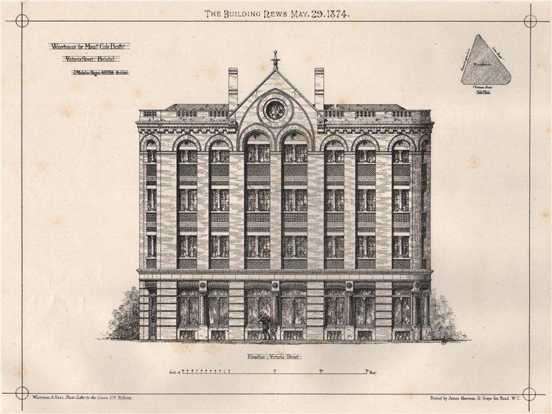 Associate Product Warehouse for Cole Bros., Victoria Street, Bristol; J. Mechelen Rogers 1874