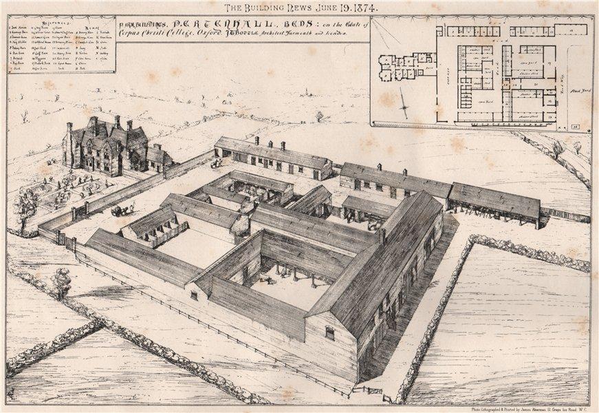 Farm Building. Pertenhall, Bedfordshire, Corpus Christi College estate 1874