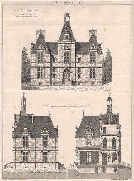 Associate Product Mairie de l'isle-Adam, Seine-et-Oise; Roguet et Boileau Fils, Architectet 1874