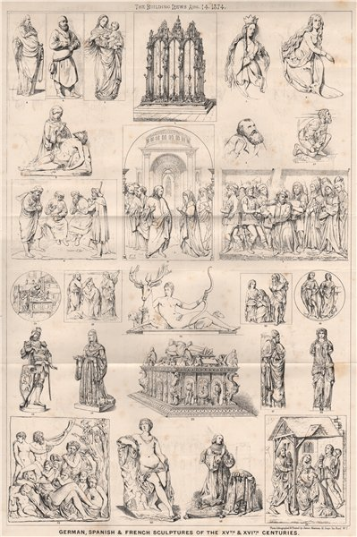 Associate Product German, Spanish & French sculptures of the XVth. & XVIth. Centuries 1874 print