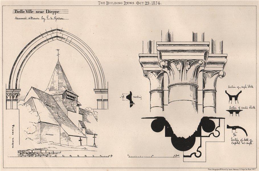 Associate Product Belleville, near Dieppe. Paris 1874 old antique vintage print picture