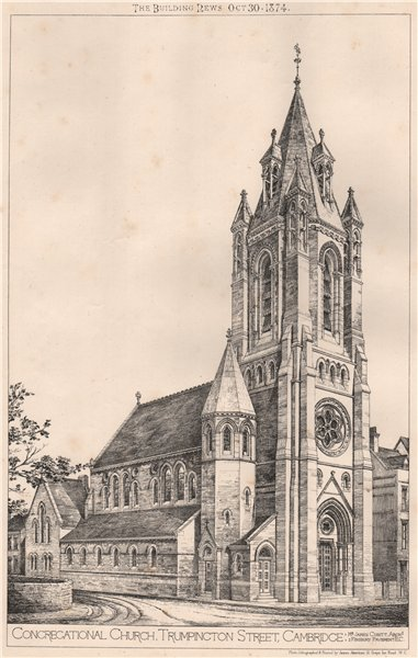 Associate Product Congregational Church, Trumpington Street, Cambridge; James Cubitt Archt 1874